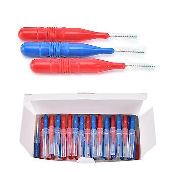 Dental Soft Floss Sticks, Tandenstoker Tanden reinigen, Plastic Interdentale Borstel.