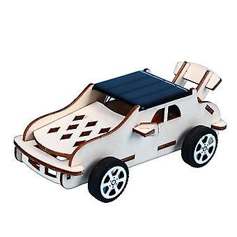 Træ puslespil solenergi drevet bil, bevægelige, samling Model Kits, Diy