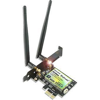 FengChun WiFi 6 Bluetooth5.0 AX 2974Mbps PCIe Wireless WiFi Netzwerkkarte, Dual Band (5GHz 2400Mbps/