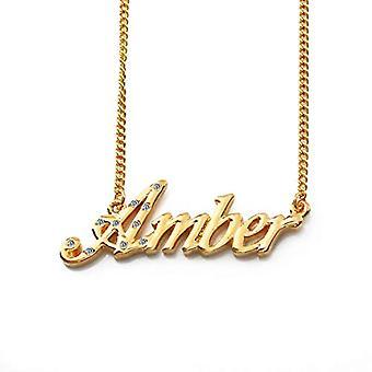 KL Amber - Naisten kaulakoru nimi, 18 karat kullattu, muokattavissa