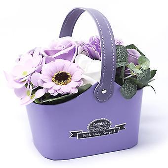 Bouquet Petite Basket - Soft Lavender ( Soap Flower)