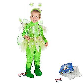 Barnas feer kostyme 7714 størrelse 2, bukser tyll skjørt topp med vinger, tryllestav