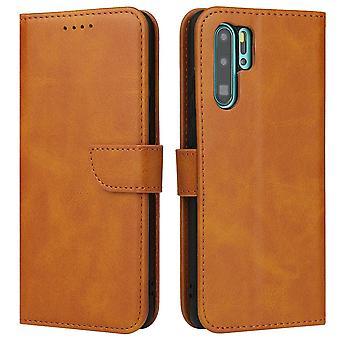 Flip folio leather case for huawei p40 lite khaki pns-1257