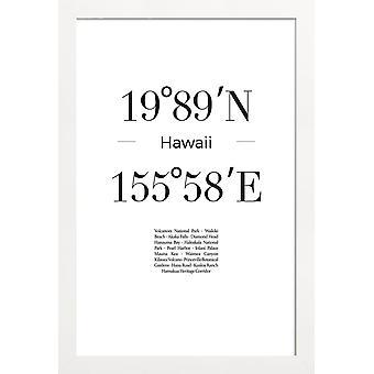 JUNIQE Print -  Hawaii - Reise Poster in Schwarz & Weiß