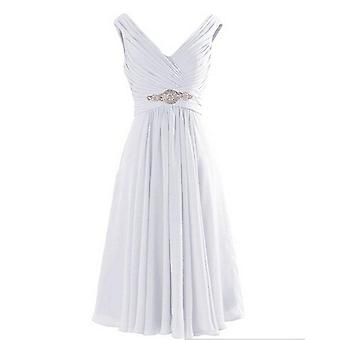 V-nyakú Gyémántok Esküvői Party Koszorúslány ruhák