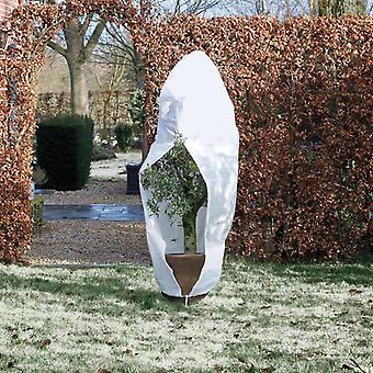 Natuur winter fleece met rits Wit 70 g/m² 1,5×1,5×2 m