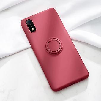 Анти-стук мягкий жидкий силиконовый корпус для Iphone - Стенд Кольцо держатель Обложка Set-9