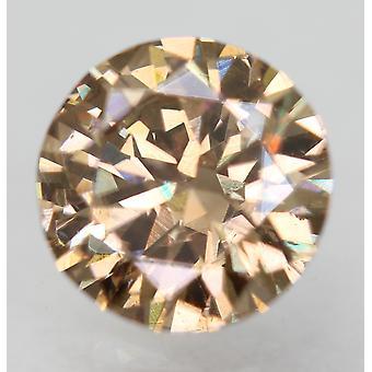 Cert 0.64 Carat Int Brown VS1 Round Brilliant Enhanced Natural Diamond 5.73mm