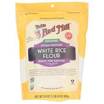 Bobs Red Mill Flour Rice White Org, Doos van 4 X 24 Oz