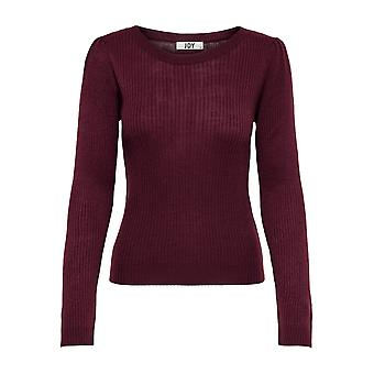 JDY Womens Knit Sweater Round Neck Structure Pullover JDYJENNA Long Puff Sleeve