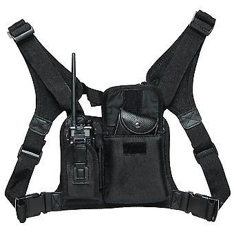 nouveau pt06 harnais de poitrine pack avant sac sac étui plate-forme de gilet pour talkie-walkie sm45550