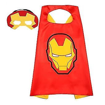 Κάπες υπερηρώων και μάσκα για τα παιχνίδια υπερηρώων παιδιών και το συμβαλλόμενο μέρος κοστουμιών υπερηρώων (σίδηρος)