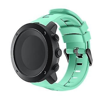 Correa vertical del reloj de silicona para suunto Ambit3 verde menta