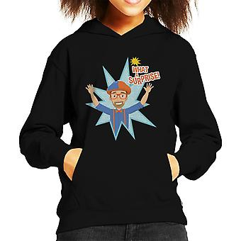 Blippi Animated What A Surprise Kid's Hooded Sweatshirt
