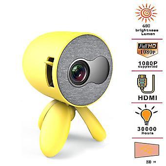 1080p HD Multimedia Video Player Mini Proiector Cu HDMI USB Av Tf