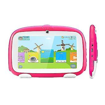 Excelvan Q738 7 tuuman A50 Android 9.0 Dual Camera Wifi Usb Kids Tablet (Vaaleanpunainen)