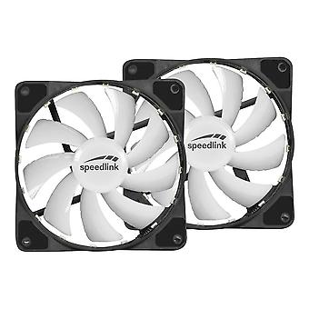 MYX LED Fan Kit, Two 120mm Fans with RGB Lighting for PC Cases