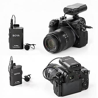 Boya By-wm4 Professional Wireless Microphone System Lavalier Lapel Camcorder