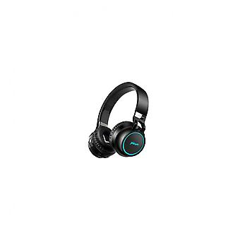 P60 Led Flashing Colorful Bluetooth Headphone With Mic Aux Tf Card Handsfree Call Black Color