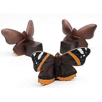 Potty Feet Red Admiral Butterfly Themed Plant Pot Feet - Multicolor - Set of 3