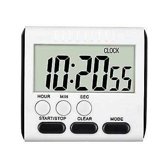 Square LCD Digital Screen Kitchen Timer Digital Cooking Count Up Countdown Alarm (nero)