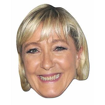 Marine Le Pen French Politician 2D Card Party Fancy Dress Mask