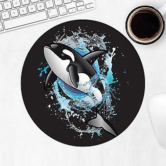 Gift Mousepad: Killer Whale In Water Bubbles Room
