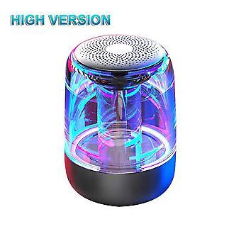 Portable Bluetooth 5.0 Speaker Transparent LED Luminous  Phone|Portable Speakers(Black)