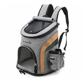 Pet carriers crates pet travel backpack pet backpack backpack backpack breathable outdoor foldable cat and dog-l gray