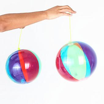Inflatable Luminous Racket Ball Color-blocking Toy Ball Flashing Ball