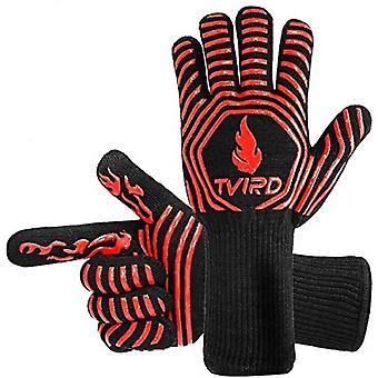 Bbq Extreme Heat Resistant, Ugnshandskar Grillgrillhandskar 1472f / 800 C Extremt värmebeständiga ugnshandskar, underarmsskydd för grillning, matlagning, grill