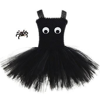 Costume d'Halloween pour filles Spider Tutu Robes Cosplay Vêtements avec bandeau