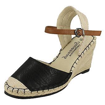 Damen Savannah Schlange drucken hinten offene Sandalen