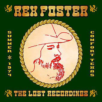 Rex Foster - Lost Recordings [CD] USA import