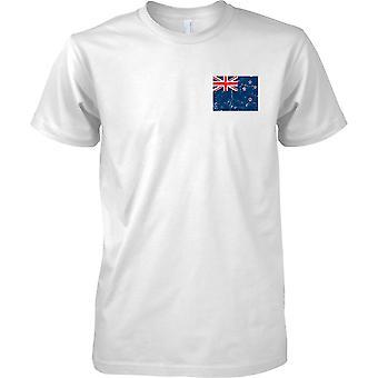 Neuseeland verzweifelt Grunge Effekt Flaggendesign - Mens Brust Design T-Shirt