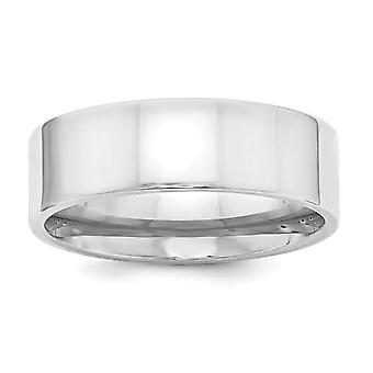 925 Sterling Silver 7mm Comfort Fit Anello Flat Band - Dimensioni dell'anello: da 4 a 13,5