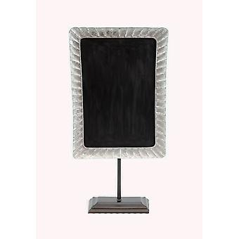 Rustic Galvanized Metal Framed Tabletop Chalkboard On Stand