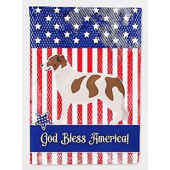 كارولين الكنوز BB8415GF حجم والعائدي الأطلس الجبلية الكلب أمريكا العلم الحديقة