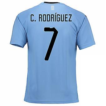 Thuis voetbalshirt van 2018-2019 Uruguay (C. Rodgrizuez 7)