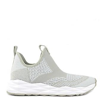Ash Footwear Shake Knit Marble And White Trainer