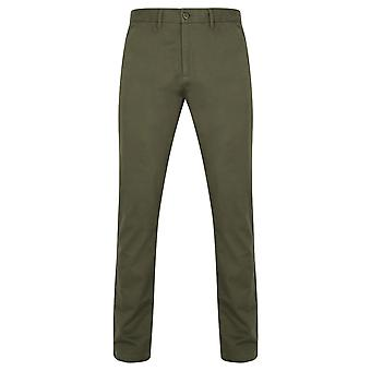 Front Row Mens Cotton Rich Stretch Chino Trousers