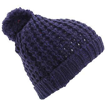 Womens/Ladies Shimmer Winter Beanie Bobble Hat