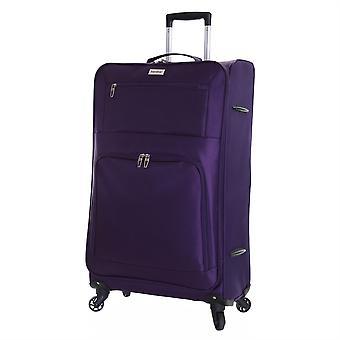Apucarana Lecce 78cm leggera valigia grande, prugna