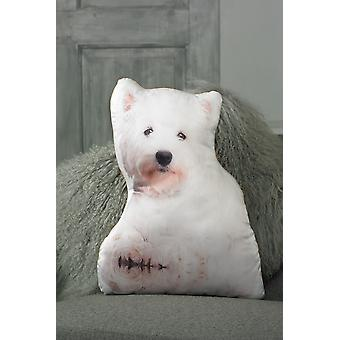 Adorable west highland terrier shaped cushion