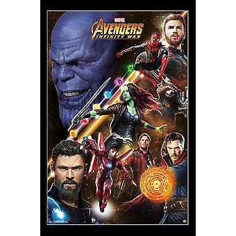 Vengadores infinito guerra - impresión del cartel de desafío