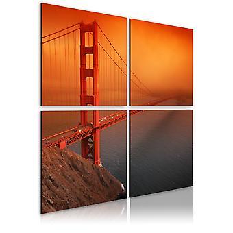 Schilderij - San Francisco - Golden Gate Bridge