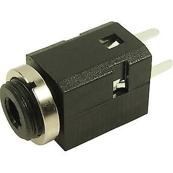 Conector de audio Cliff FC681375V de 3,5 mm Socket, incorporado Número de pines: 3 estéreo negro 1 ud(s)