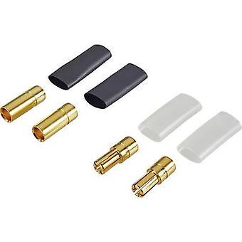 Reely 83504-2 Deluxe batteri plugg 5,5 mm guldpläterad 2 par