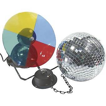 50101855 HV halogen speilet ballen satt inkl motor, inkl farge gels 20 cm