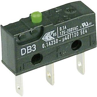 ZF Microswitch DB3C-B1AA 250 V AC 0.1 A 1 x On/(On) momentary 1 pc(s)